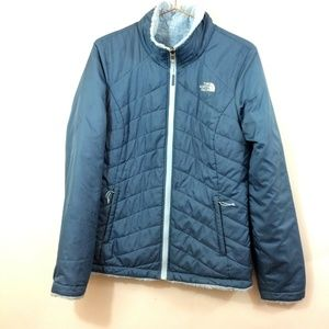 The North Face Women's Blue Jacket Reversible Sz S